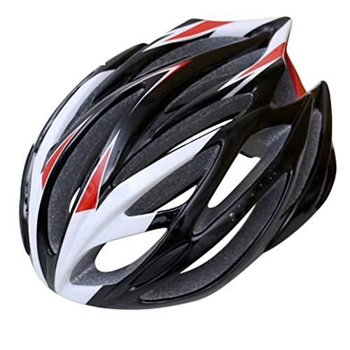 GXYAS Casco, casco de bicicleta al aire libre, casco de bicicleta, casco de protección de carretera, casco de bicicleta de verano para hombres y mujeres, color negro, tamaño talla