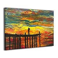 Skydoor J パネル ポスターフレーム 油絵 カップル キス インテリア アートフレーム 額 モダン 壁掛けポスタ アート 壁アート 壁掛け絵画 装飾画 かべ飾り 30×20
