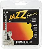 Thomastik Cuerdas para Guitarra Eléctrica Jazz Swing Series niquel Flat Wound juego JS111 Light .011-.047w