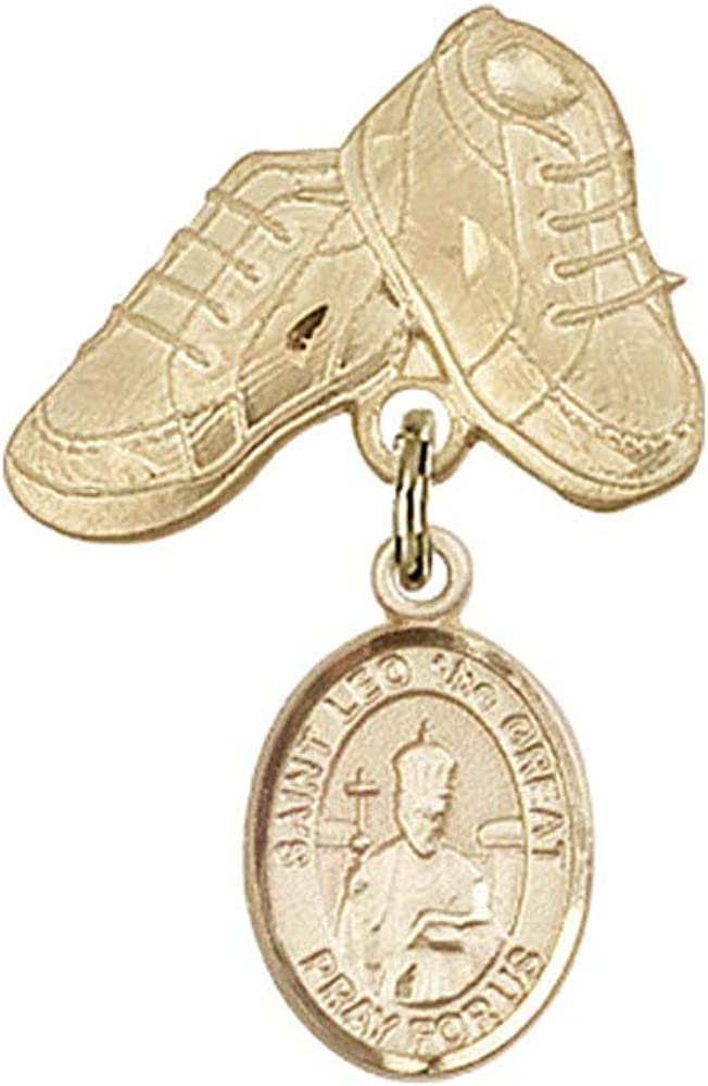 Baby Badge 14kt Detroit Mall Gold Popular popular badge with Charm St. the Leo Great