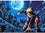 CGMY Anime Naruto Jigsaw Puzzle 1000 Pieces Wooden Puzzle HD Printed Cartoons Puzzle Uzumaki Naruto Anime Jigsaw Adult Decompression Toys Home Puzzle Game Kids Educational Gifts