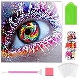 Wishstar Diamond Painting Ojo, 5D Diamante Pintura Kits DIY, Cuadro de Diamantes Manualidades Decoración del Hogar Art (30 x 30 cm)