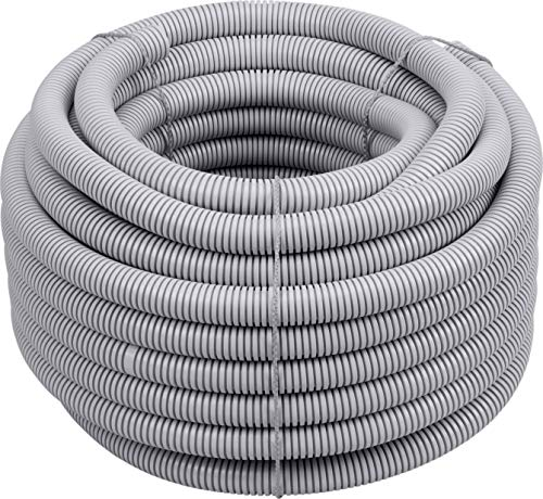 Meister Isolierrohr flexible Ausführung - 25 Meter - lichtgrau - 320 N (leicht) - M25 Gewinde - Flammwidrig - Geeignet für Unterputz & Hohlwände / Wellrohr / Leerrohr / Schutzrohr / 7480620