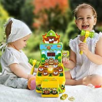 VATOS Acchiappa la Talpa,Mini-Giocattolo elettronico Arcade,Giocattolo Fornito di Monete e di 2 martelli Giocattolo,Gioco interattivo per i Bambini e Bambini di età Compresa tra 3-6 Anni #7