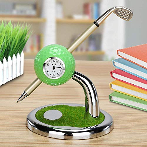 9.99WORLD MALL10L0L Golf Pen Gift Mini Office Golf Pen Holder with 3 Sets Aluminum Alloy Golf Pens Golf Souvenir Tour Novelty A for Father Golf Fans Boyfriend Boy Men Coworker