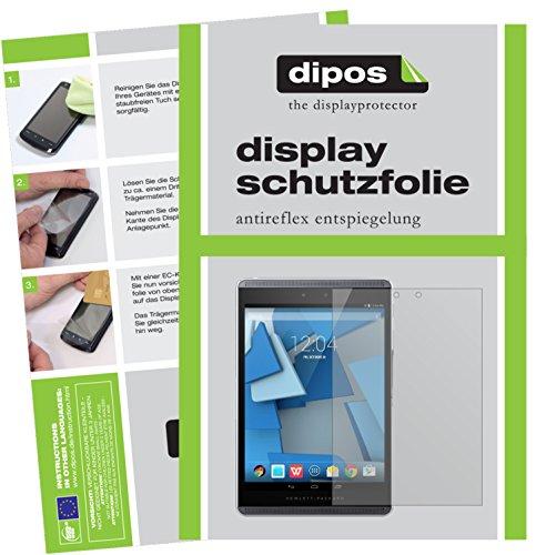 dipos I 2X Schutzfolie matt kompatibel mit HP Pro Slate 8 Folie Bildschirmschutzfolie