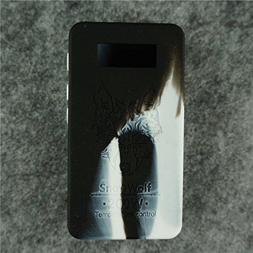Case for SnowWolf Snow Wolf 200w Mod Silicone Skin Sleeve Skin Wrap Cover Sticker (White/Black)