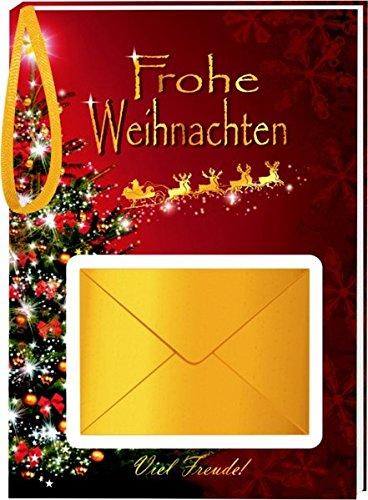 AV Andrea Verlag Geldgeschenk im Geschenke Set zu Weihnachten Goldsekt 22 Karat Blattgold (Frohe Weihnachten 10507)