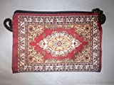 Oriental Carpet Coin Purse - Agra Design - Coin Pouch & Purse for Girls, Small Zipper Card Case Wallet as Change Holder & Money Bag or Cell/Mobile Phone holder