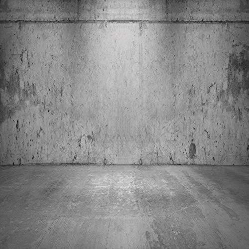 Dunkle Wand Hintergrund für Fotografie Ziegel Holzboden Glänzender Scheinwerfer...
