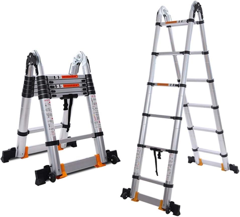 Zhicaikeji Extension Ladder Aluminum Wheels Adjustable Telescopic Ladder Tape Folding Ladders Ladder Slide Latch Folding Extension Ladder Color Silver Size 3 8m Amazon Co Uk Kitchen Home