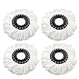 Best Microfiber Mops - Bajrang Mop Head Refill (white) -4 Pieces Review