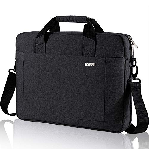 Voova Laptop Bag 14 15 15.6 Inch Laptop Briefcase Shoulder Messenger Bag Expandable Computer Handbag Waterproof Carrying Case with Tablet Pocket for Business/Office/Travel/School/Men/Women