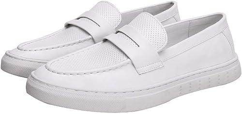 KMJBS Chaussures pour Homme été décontracté Chaussures Blanc Chaussures Hollow Out Chaussures de Foot