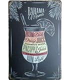 DaoRier Blechschild Schwarz Werbung Wand Cocktail Schilder