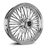 16X3.5 FAT 40 SPOKE REAR WHEEL FOR ALL HARLEY SOFTAIL MODELS 2000-2007 (Chrome)...
