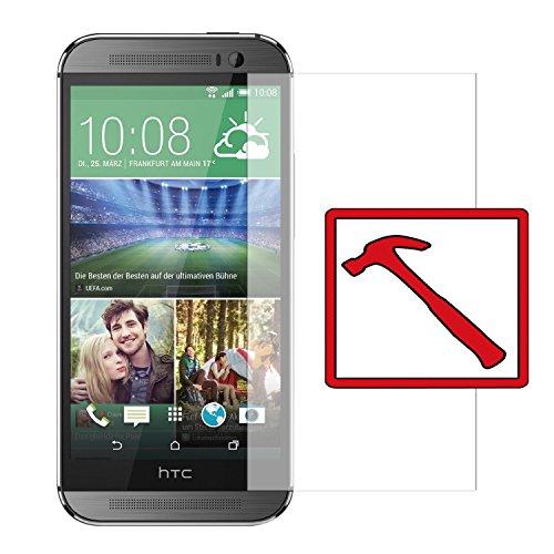 Slabo Premium Panzerglasfolie HTC One M8 / M8S Echtglas Bildschirmschutzfolie Schutzfolie Folie Tempered Glass KLAR - 9H Hartglas