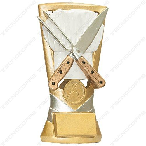 Trofeo cocinero cocina H 18,50cm placa personalizada compresa en el precio