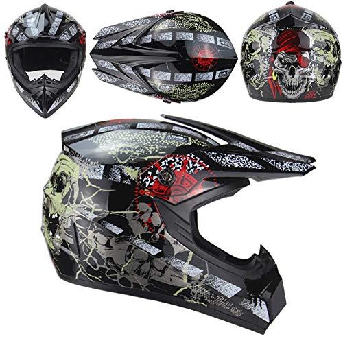 Casco de moto de pesca, cascos de esquí de fondo, cascos de bicicleta de montaña general, cascos para jóvenes y niños, cascos de esquí de fondo combinados, gafas de protección (M(55-56 cm)
