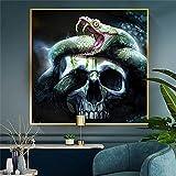 BIGSHOPART Abstrakte Boa Schlange Schädel Spiel Schlange