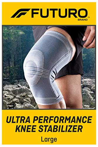 FUTURO-48191EN Ultra Performance Knee Stabilizer, Breathable, Large - Gray
