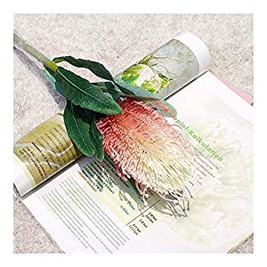 ZHXDXF Lifelike Protea Branch Artificial Flowers Flores Artificiales for Home Wedding Decoration Fake Plants Romantic Festival Holiday Home Décor