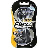 Bic Rasoirs Bic Comfort Flex 4 Par 3 Einweg-Rasiermesser für das Rasieren Ultra Soft Pack (3 Let Shavers 9) 1