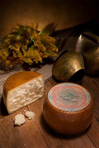 1.75 kg (mezza forma) - Fioretto è un formaggio pecorino semistagionato prodotto da latte di pecora da allevamenti sardi. Sepi Formaggi, Marrubiu