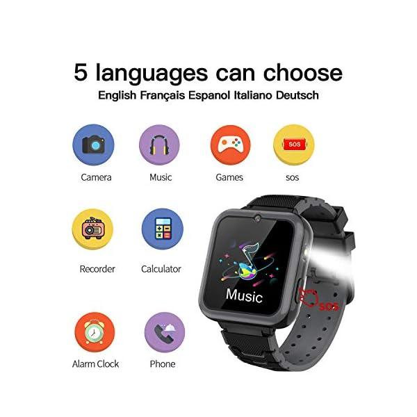 Smooce Smartwatch para Niños, Reloj Inteligente Niños Teléfono con 1.54 Pulgadas Pantalla Táctil, MP3 Música,Llamada SOS… 2