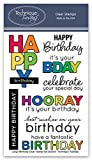 Large Birthday Stamp Set | Photopolymer Stamps - Clear Rubber Stamps | Stamps for Card Making