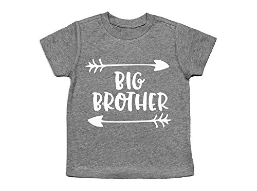 Price comparison product image Big Brother Shirt / Announcement Shirt / Sibling Announcement Shirt (5T) Heather Grey
