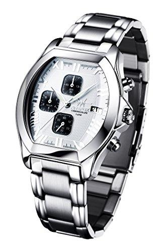 FIREFOX NEBUKADNEZAR FFS170-101 weiß Herrenuhr Armbanduhr Chronograph massiv Edelstahl Sicherheitsfaltschließe wasserdicht Kaliber Uhrwerk Miyota OS10