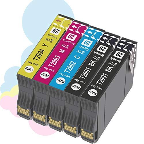 OGOUGUAN 29XL Cartuchos de Tinta para 29 XL Compatible con Epson Expression Home XP-235 XP-245 XP-247 XP-255 XP-342 XP-332 XP-335 XP-345 XP-432 XP-435 XP-442 (5 Paquete)
