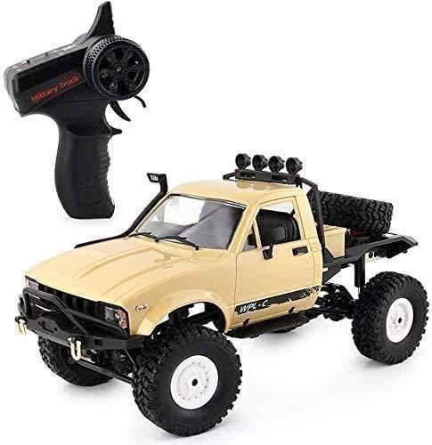 Lotees Camiones todoterreno RC RC Car Hight Speed coche teledirigido 1/16 escala 4WD del coche de competición recargable Todo Terreno Off Road Monster Truck Semi regalos 2.4Ghz RTR rastreadores Dese