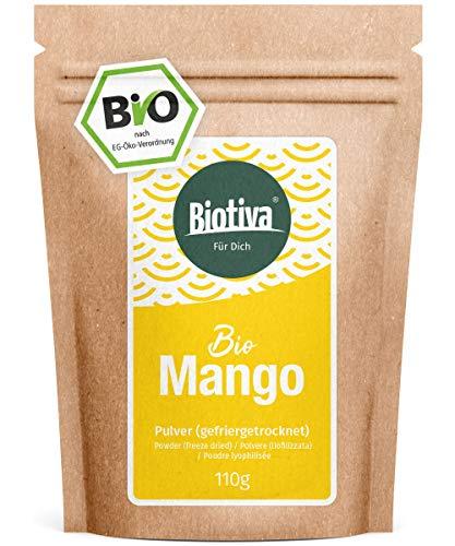 Mango Pulver Bio gefriergetrocknet 110g - Fruchtpulver - vegan - laktosefrei - Mangifera indica - abgefüllt und zertifiziert in Deutschland