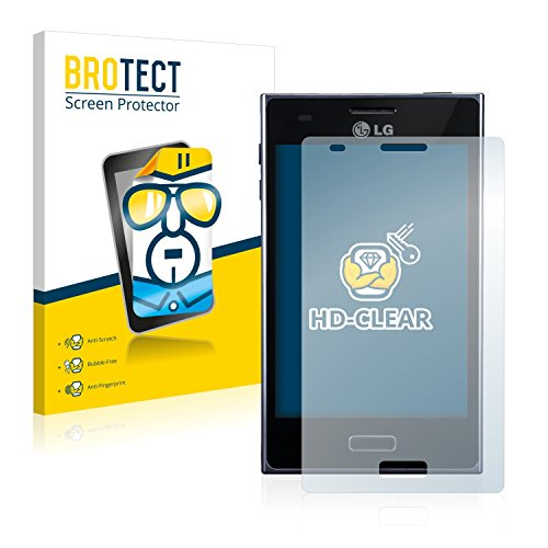 BROTECT Schutzfolie kompatibel mit LG Electronics E610 Optimus L5 (2 Stück) klare Bildschirmschutz-Folie