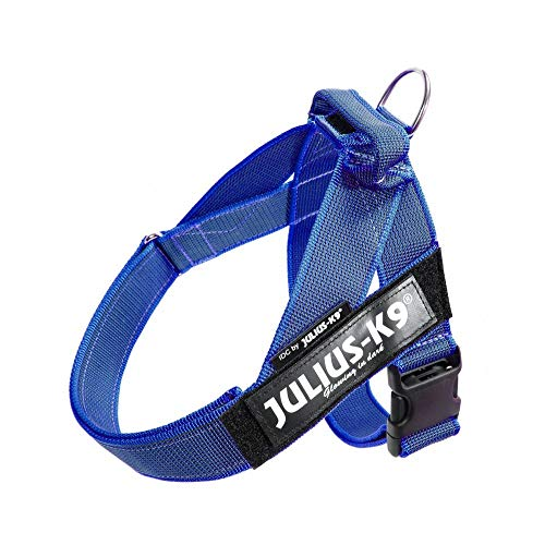 Julius-K9, 16IDC-0-B-2015, IDC Color & Gray Belt Harness for Dogs, Size: 0, Blue-Gray