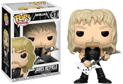 Pop Funko 57 James Hetfield Metallica Rocks Funko Multicolorido Pequeno