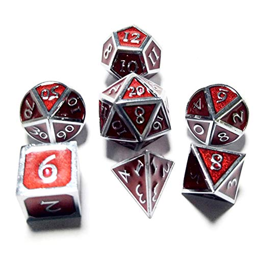 Sunnay 7 Polyedrische Würfel Set Doppel Farben Spielwürfel Für DND Tischkartenspiele,Einsteigerset A33 Stil