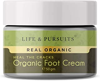 Life & Pursuits Organic Foot Crack Cream For Dry Cracked Heels & Feet (50gm)