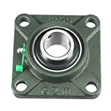 uxcell Pillow Block Cast Bearing UCF206 30mm Mounted Bear Square Flange Green