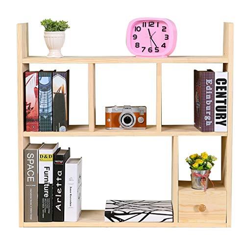 Armoires, modules et étagères Étagère bibliothèque étagère en bois massif étagère de bureau étagère étagères simples racks de finition grille grille de stockage rack étagère de rangement bibliothèque