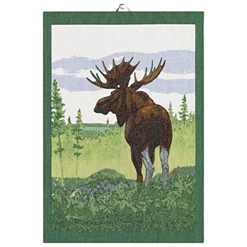 Ekelund - Moose in Forest - Cotton Kitchen Towel