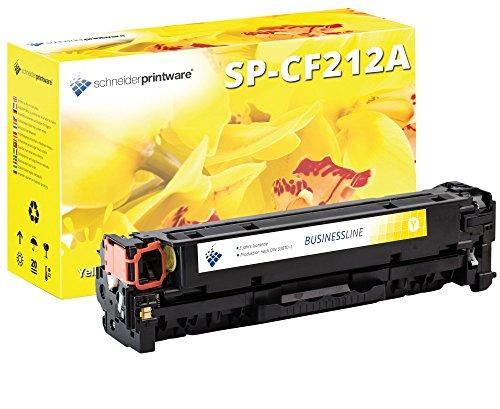 Schneiderprintware Toner   35 Prozent mehr Seiten   kompatibel zu HP CF212A, 131X, 131A Toner gelb für HP LaserJet Pro 200 Color M251N, M251NW, M276N, M276NW