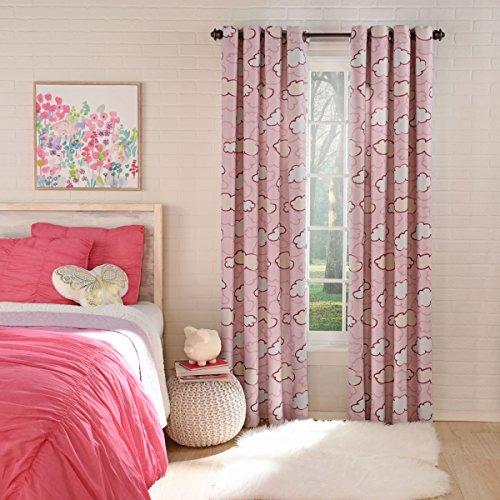 Lorraine Home Fashions Clouds Blackout Window Grommet Panel, Pink, 50' x...