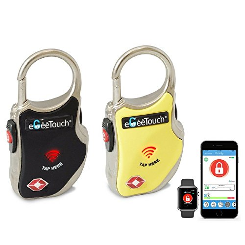 eGeeTouch Smart TSA Travel Lock-Secure & Track Your Luggage/Backpack Anywhere You go.. (Mix 2 Pack)