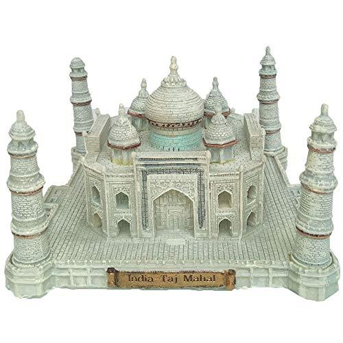 WY-BUILD Statues Sculptures, Indian Taj Mahal Architectural Model Sculpture, Landmark Building Model Ornaments, Decorative Sculptures, Tourist Souvenirs (12.7 X 12.7 X 7.8 cm)