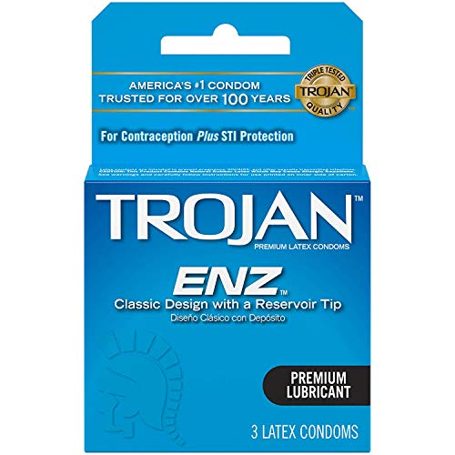Trojan ENZ Lubricated Condoms, 3 Count