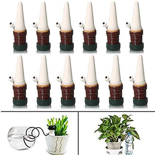 Sibosen 12 PCS Bewässerungssystem, automatische Bewässerung, Keramik, Perkolator, Tropfbewässerung, Mikro-Bewässerung, Zimmerpflanze, Selbstbewässerung, langsam freigesetzt, für drinnen und draußen