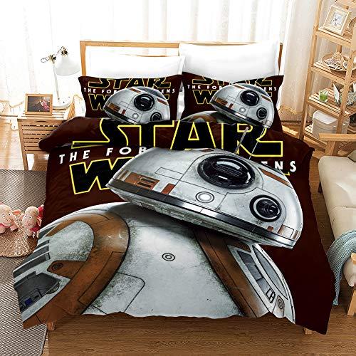 Proxiceen Star Wars - Funda nórdica con cremallera y 2 fundas de almohada, juego de cama para niños y adolescentes, individual (A9,220 x 240 cm + 50 x 75 cm x2)